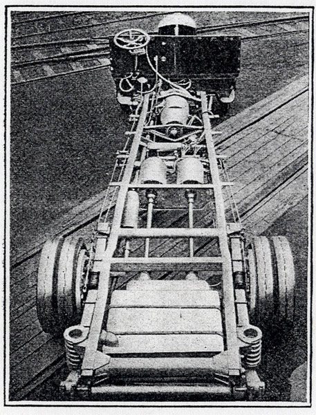 chassis showing gas-electric drive