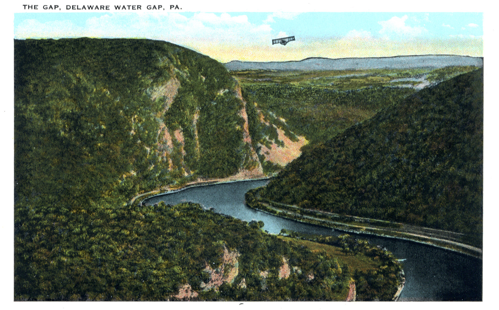 Delaware Water Gap postcard