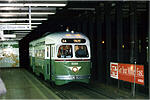 PCC 2168 in subway surface tunnel