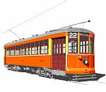 PRT Orange Trolley